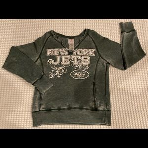 Woman's New York JETS Lon-sleeve sweater